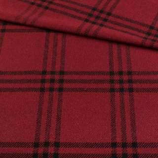 Шотландка червона темна в чорну клітинку, ш.145 оптом
