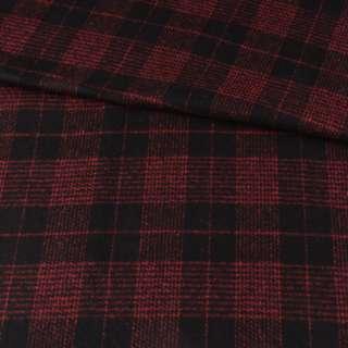 Напіввовна пальтова в клітинку червону чорна, ш.150 оптом