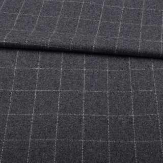 Шотландка пальтова сіра в білу пунктирну клітку ш.150 оптом
