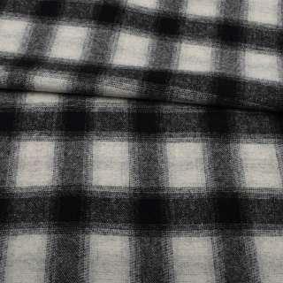 Шотландка пальтова сіра світла в чорну клітинку ш.155 оптом