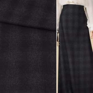 Шотландка костюмна фіолетова клітина на сірому темному тлі, ш.150 оптом