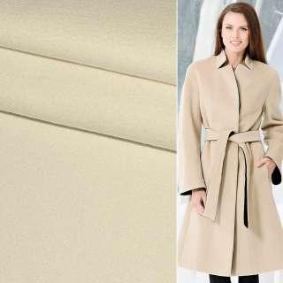 Ткань пальтовая 2-ст. молочно-розовая ш.150 оптом