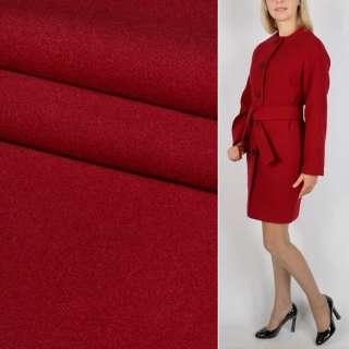 Ткань пальтовая 2-ст. красная ш.150 оптом