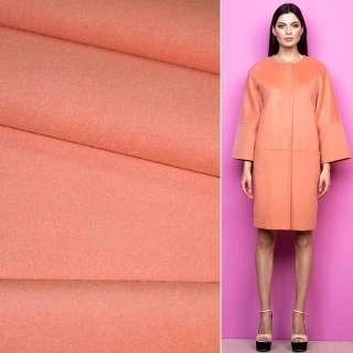 Ткань пальтовая 2-ст. коралловая светлая ш.150 оптом