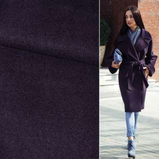 Ткань пальтовая 2-ст. баклажановая ш.150 оптом