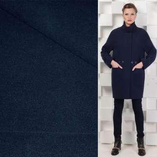 Ткань пальтовая 2-ст. темно-синяя ш.150 оптом