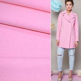 Ткань пальтовая 2-ст. розовая ш.150 оптом