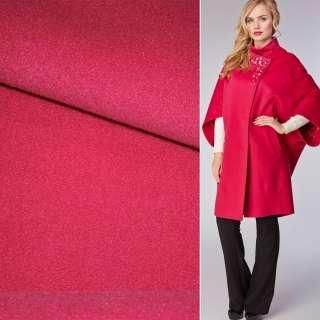 Ткань пальтовая 2-ст. малиновая светлая ш.150 оптом