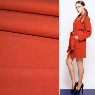 Ткань пальтовая 2-х ст. морковно-красная ш.150 оптом