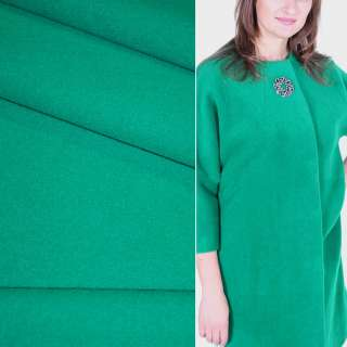 Ткань пальтовая 2-ст. нефритовая (зеленая) ш.150 оптом