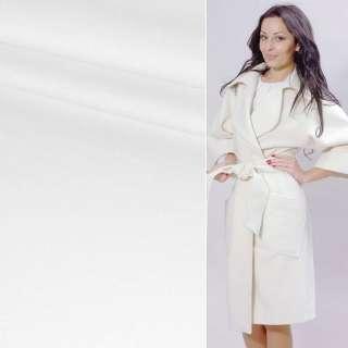 Пальтова тканина 2-х-стор. біла, ш.150 оптом
