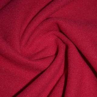 Ткань пальтовая красная на трикотажной основе ш.156 оптом