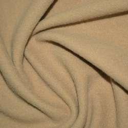 Ткань пальтовая бежевая на трикотажной основе ш.154 оптом