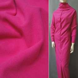 Ткань пальтовая ярко-розовая на трикотажной основе ш.154 оптом