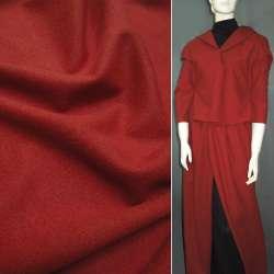 Ткань пальтовая терракотовая на трикотажной основе ш.156 оптом