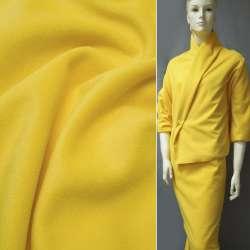 Ткань пальтовая желтая на трикотажной основе ш.156 оптом