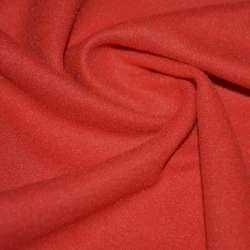 Ткань пальтовая алая на трикотажной основе ш.157 оптом