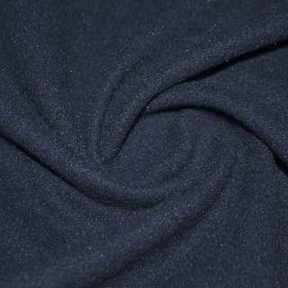 тк. пальтовая темно-синяя на трикот. осн. ш.160 оптом