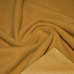 Ткань пальтовая мандариновая темная на трикотажной основе ш.158 оптом