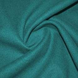 Ткань пальтовая сине-зеленая на трикотажной основе ш.155 оптом