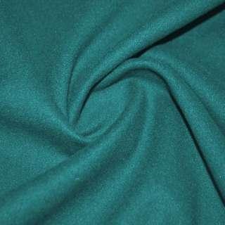 тк. пальтовая сине-зеленая на трикотаж. осн. ш.155 оптом