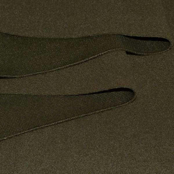 Ткань пальтовая болотная на трикотажной основе ш.162 оптом