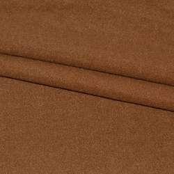 Ткань пальтовая коричневая на трикотажной основе ш.155