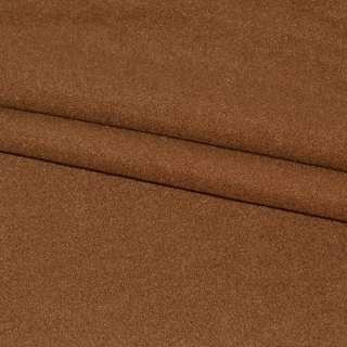 Ткань пальтовая коричневая на трикотажной основе ш.155 оптом