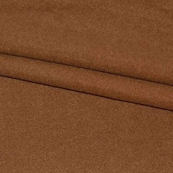 тк. пальтовая коричневая на трикот. осн. ш.155 оптом