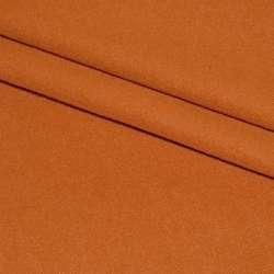 Ткань пальтовая оранжево-рыжая на трикотажной основе ш.160