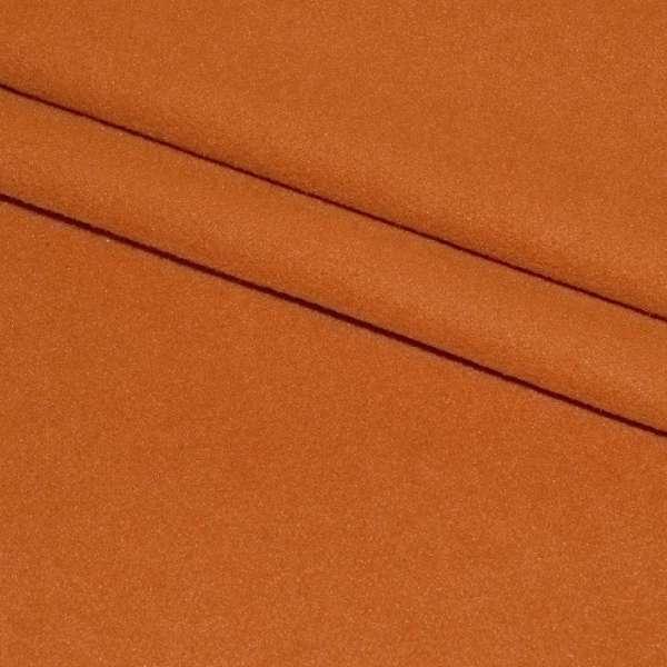 тк. пальтовая оранжево-рыжая на трикот. осн. ш.160 оптом