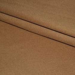 Ткань пальтовая бежевая темная на трикотажной основе ш.160