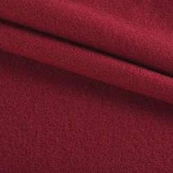 Ткань пальтовая бордовая на трикотажной основе ш.160 оптом