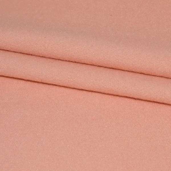 тк. пальтовая розово-персиковая на трикот. осн. ш.160 оптом
