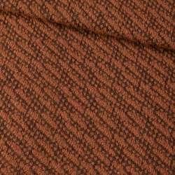 Пальтовый трикотаж-диагональ коричневый ш.150 оптом