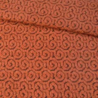 Пальтовый трикотаж-завиток терракотовый ш.139 оптом