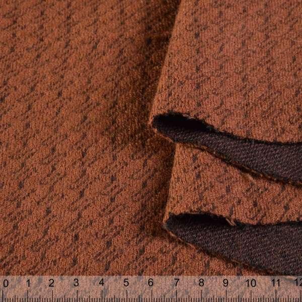 Пальтовый трикотаж-зигзаг терракотовый ш.150 оптом