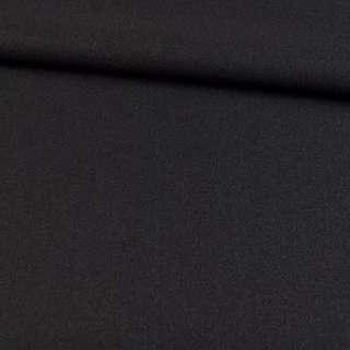 Трикотаж пальтовый черный, ш.155 оптом