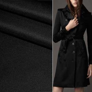 Поливискоза костюмная стрейч черная ш.150 оптом