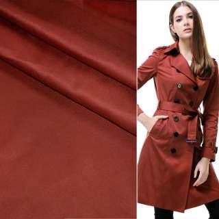 Поливискоза костюмная стрейч бордово-терракотовая ш.150 оптом