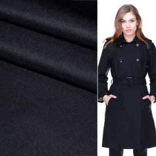 Поливискоза костюмная стрейч сине-черная ш.150 оптом