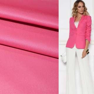 Поливискоза костюмная стрейч ярко-розовая ш.150 оптом