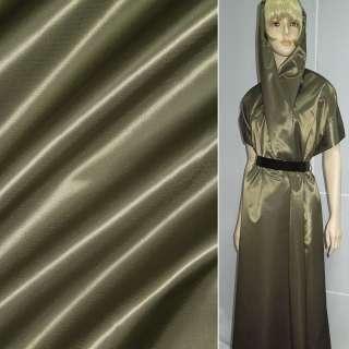 ткань плащевая коричневая с зелен. отливом шир 140 см оптом