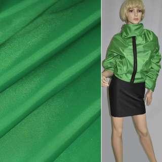 Ткань плащевая зеленая ш.150 оптом
