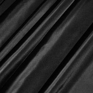 Ткань плащевая блестящая черная ш.150 оптом