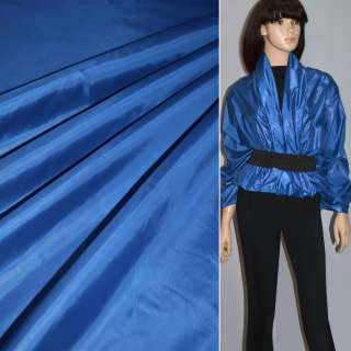 Ткань плащевая блестящ. синяя ш.150 оптом
