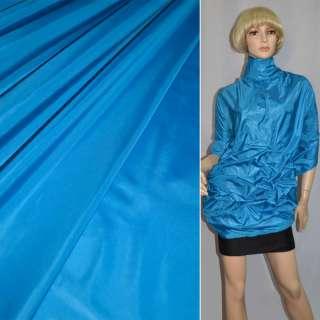 Ткань плащевая блестящая ярко-голубая ш.150 оптом