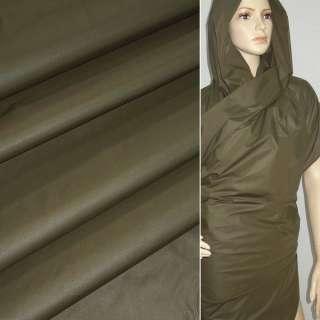 Ткань плащевая зеленая темная ш.150 оптом