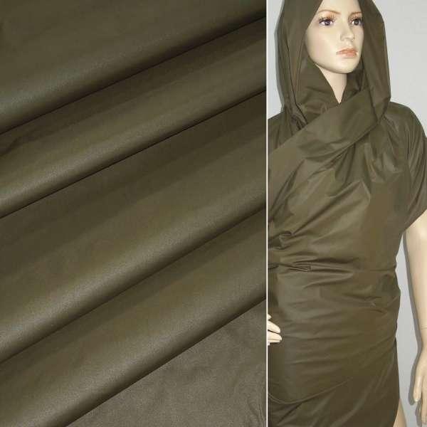 ткань плащевая темно-зеленая ш.150 оптом