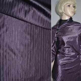Тафта жатая фиолетовая темная на трикотажной основе ш.150 оптом